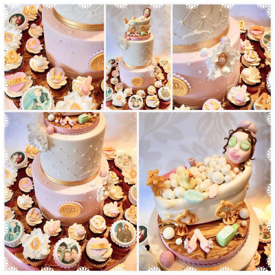 Pamper Birthday Cake, Our cakes & cupcakes are perfect for any special occasion, including...   Birthdays, Weddings, Anniversaries, Christenings, Baby Showers, Mothers Day, Halloween, New Arrivals, Christmas, Valentines Day, Personalised Cupcakes and more., cakes makers leeds, cakes in leeds,